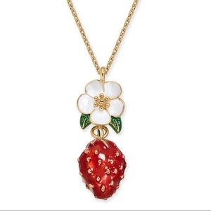 Kate Spade Picnic Perfect Strawberry Necklace-NWT